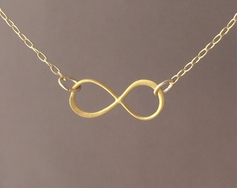 Gold Infinity Necklace also in silver