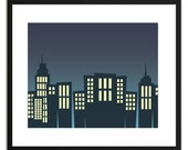 Printable Art Bright Lights City 8x10