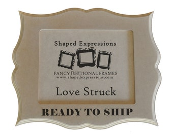 READY TO SHIP - 5x7 Love Struck unfinished picture frame