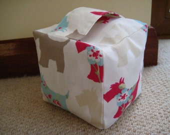 Instant download square fabric doorstop tutorial PDF easy sewing instructions