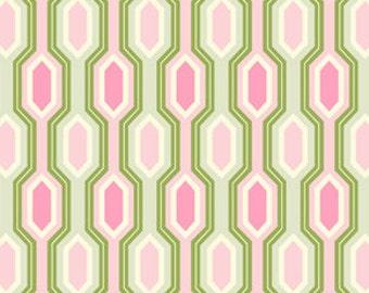 "Garden District CANVAS - Geometric Stripe in Pink - CHHB002.PINK - 58"" - 1/2 Yard"