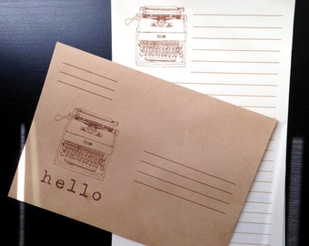 Typewriter Stationery Set
