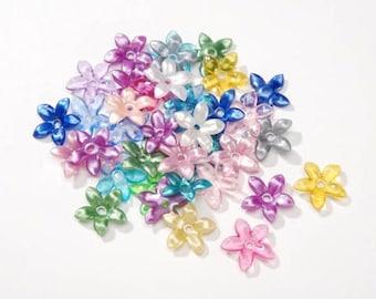 300 Assorted Flower Beads