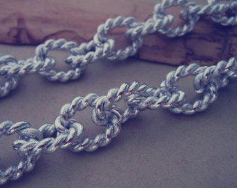 2m (6.5feet)16mmx21mm silver color twisted chain Aluminum chain
