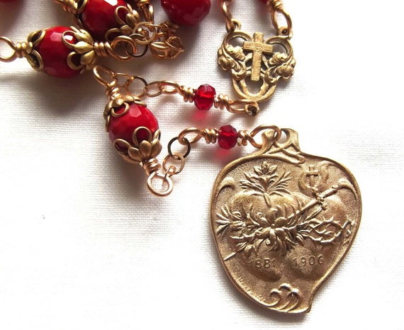 Sacred Heart & Immaculate Heart Chaplet, The Two Hearts Chaplet Rosary