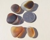 Caramel heart multi and other amber sea glass multis.