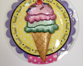 Ice Cream Cone Sundae Cake Toppers