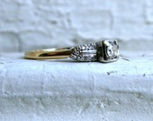 Vintage Art Deco 14K Yellow Gold Diamond Engagement Ring by Keepsake.