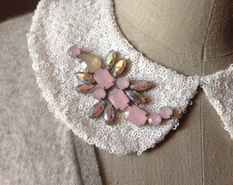 Jeweled Butterfly and Scorpion Peter Pan Collar Necklace