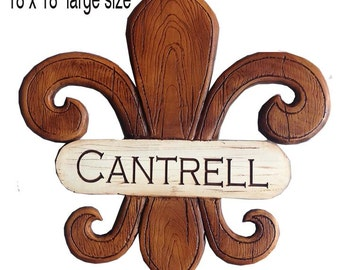 French Fleur Di Lis Personalized Home Sign