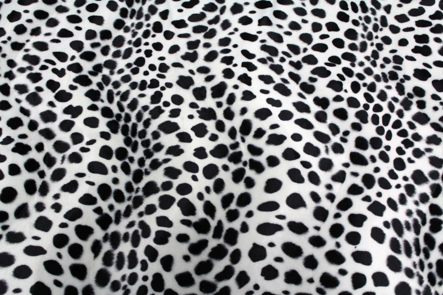 black and white dalmatian faux fur fabric animals print by kbazaar. Black Bedroom Furniture Sets. Home Design Ideas