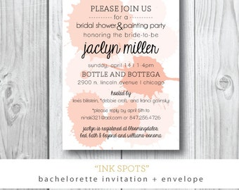 Ink Spots | Bachelorette Painting Party Invitation | Printed or Printable by Darby Cards