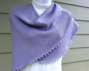 Pretty Simple Picot Edge Shawls, PDF knitting pattern, wrap, triangle, prayer shawl, spring, sport weight, summer weights and winter weights