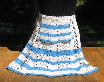 Vintage Hand Crochet  Apron