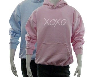Women's Hooded Sweatshirt - Created using the words Hugs & Kisses XOXO