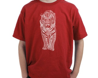 Boy's T-shirt - Tiger - Created using a list of popular endangered species
