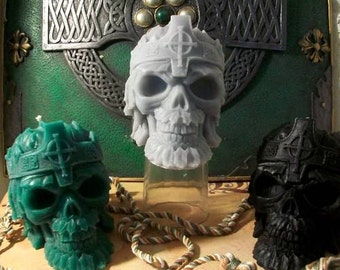 Celtic Skull Beeswax Candle