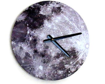 Moon Clock, Wall Clocks, Astrology, Space Decor,  Home Decor, Home and Living, Decor & Housewares ,Unique Gift