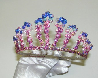 hand made glitter PEARL tiara HEADBAND hair piece headpiece wedding bridal flower girl