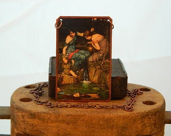 Greek Mythology jewelry John Waterhouse Orpheus mixed media jewelry