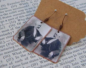 Tchaikovsky earrings Composer jewelry Classical Music mixed media jewelry