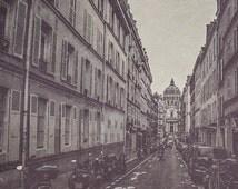 Paris Photography | The Streets of Paris Black & White Photograph | Wall Art | Home Decor | Affordable Art | Architecture | Travel | Texture