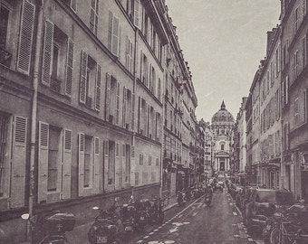 Paris Photography | The Streets of Paris Black & White Photograph | Wall Art | Home Decor | Affordable Art | Architecture | Travel | Texture
