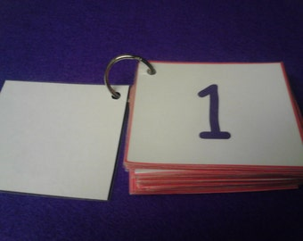 Numbers Flash Cards, Laminated, Number Cards, Numbers Flashcards, Numbers, Preschool Learning, Toddler, Kindergarten, Montessori, Kids, Baby