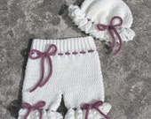 Crochet Frilly Pantaloons and Mob Cap NSTANT DOWNLOAD PDF from Thomasina Cummings Designs