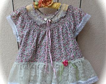 Gypsy Cowgirl Girly Shirt Ruffles n' Lace  Rustic Ragamuffin Shabby Chic Cute