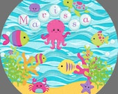 Personalized Underwater Melamine Plate