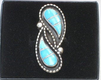 Ring - Turquoise - Sterling Silver - Vintage
