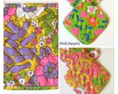 Hippie Mod Flower Power Early 1970's Puget Power Advertising Potholders