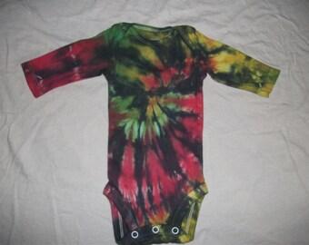 Newborn Tie Dye Onesie with Black