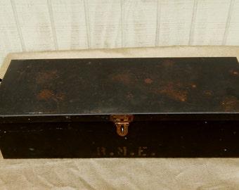 Industrial Tool Box, Metal Storage Box, Vintage Tool Box, Industrial Box, Vintage Tool Tray, Industrial Storage, Vintage Storage, Industrial