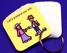 Autism ABA Activity Keyring - Let's Pretend Keyring Visual Aid - Autism Therapy Product