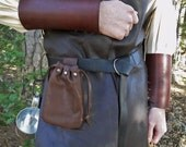 1 Medieval Leather Pouch Bag - Choose Your Color - Renaissance SCA, Handmade