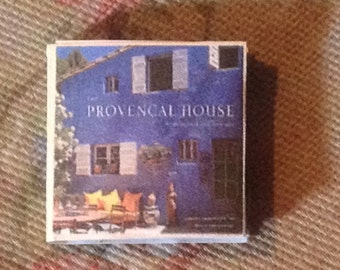 "Dollhose Miniature Book, ""Provencal House"" with 18 Full Color Pages. Scale One Inch"