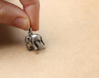 Elephant Charm- Vintage Sterling Silver Charm