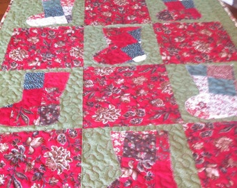 Scrappy Holiday Lap Quilt