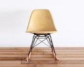 EAMES for Herman Miller RSR - Yellow Ochre Fiberglass Rocking Chair
