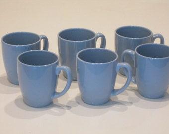 Corelle Stoneware Powder Blue Mugs Set of 6