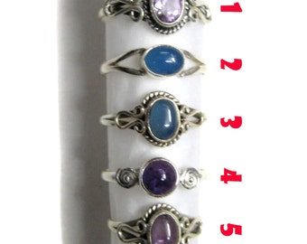 925 Sterling Silver Gemstone Rings , Fine Quality Gem Stone thin ring Beautiful Hand crafted Silver jewelry beautiful gift for her christmas
