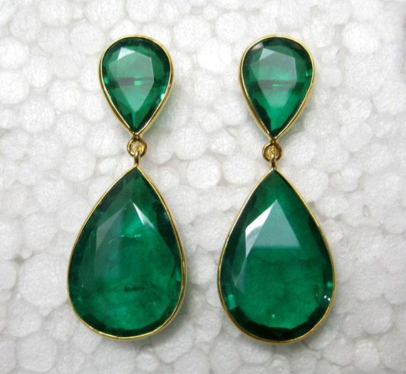 Angelina Jolie Emerald Earrings Academy Awards Red Carpet