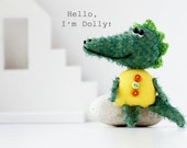 Tiny crocodile - Dolly - Brooch - Animal - Friend of Peppa Pig - Jewelry -  Miniature Soft Toy - Gift!