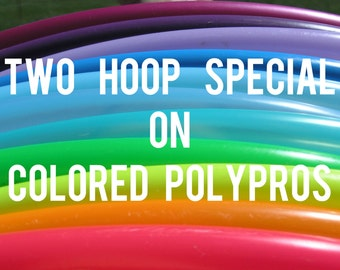 """Buy 2 Save 15% 3/4""""  POLYPRO Doubles Dance & Exercise Hula Hoop COLLAPSIBLE push button"""