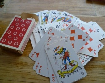 Vintage 52 Card Deck French Deck Playing Card  Advertising Shell Oil Gas Deck
