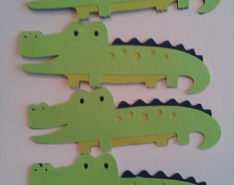 set of 4  alligator Die Cuts