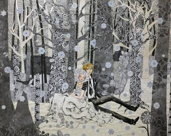 """Yuki-Onna - ORIGINAL 30""""x40"""" painting"""