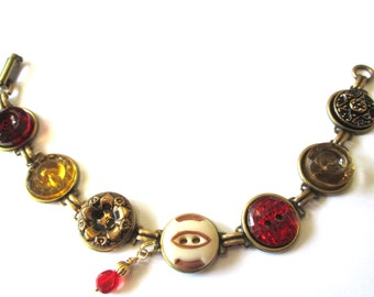 SF 49ers FOOTBALL antique button bracelet. One of a kind, 1800s buttons